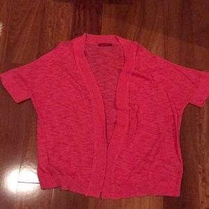 RED - shrug sweater.  Large.